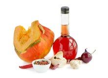 Pumpkin and vinegar Stock Photography