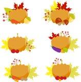 Pumpkin, vintage set , eggplant, September Royalty Free Stock Photos