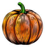 Pumpkin vintage woodcut illustration Stock Photo