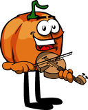 Pumpkin with violin Royalty Free Stock Photos