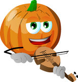 Pumpkin with violin Stock Photos
