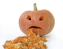 Pumpkin vomit Royalty Free Stock Image