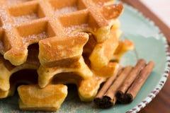 Pumpkin waffles Royalty Free Stock Photo