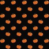 Pumpkin Watercolor Pattern vector illustration