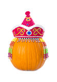 Pumpkin Wearing Colorful Ethnic Hat #1 Stock Images