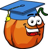 Pumpkin wearing Graduation cap Royalty Free Stock Photography