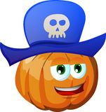 Pumpkin wearing pirate hat Royalty Free Stock Photography