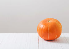 Pumpkin on white background. The pumpkin on white background Royalty Free Stock Image