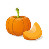 Pumpkin  on white. Stock Photography