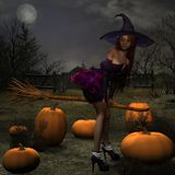 Pumpkin Witch Royalty Free Stock Photography