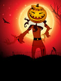 Pumpkin witch in the Halloween night. Royalty Free Stock Images