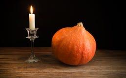 Pumpkin on wood Stock Photos