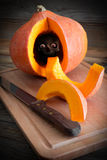 Pumpkin on wood Royalty Free Stock Photography