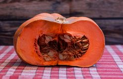 Pumpkin with wooden background stock photos