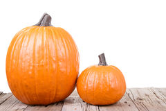Pumpkin on wooden plank Royalty Free Stock Photos