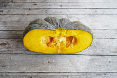 Pumpkin on  a wooden Stock Images