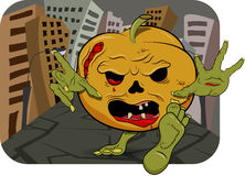 Pumpkin zombie Stock Images