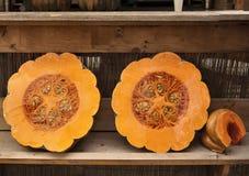 Pumpking a metà arancio Immagine Stock
