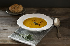 Pumpking soup. Royalty Free Stock Image