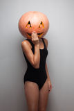 Pumpkinhead model Stock Photo