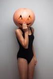 Pumpkinhead modell Arkivfoto