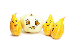 Pumpkins. Isolated over a white background royalty free stock images