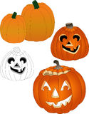 Pumpkins. Add a pumpkin or Jack-O-Lanterrn to an autumn promotion, publication, or greeting card Stock Photo