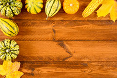 Pumpkins as decoration for thanksgiving day Stock Photography