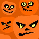 Pumpkins background Stock Photos