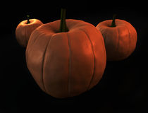 Pumpkins on black Royalty Free Stock Image