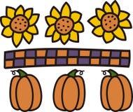Pumpkins Border Stock Image