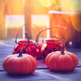 Pumpkins with bright background Royalty Free Stock Photo
