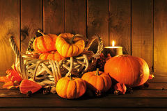 Pumpkins in candle light Royalty Free Stock Image