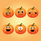 Pumpkins cartoons Stock Photos