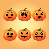 Pumpkins cartoons Royalty Free Stock Photo