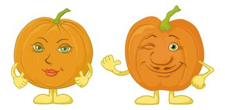 Pumpkins character Royalty Free Stock Photo