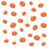 Pumpkins color on white background seamless pattern. Autumn time backdrop Stock Images