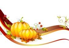 Pumpkins composition made in illustrator cs4 Stock Photo