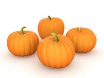 The pumpkins, 3d rendering Stock Photos
