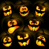 Pumpkins on a dark background Royalty Free Stock Image