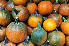 Pumpkins on display during Halloween Royalty Free Stock Photos