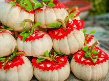 Pumpkins in the domestic market Stock Photography