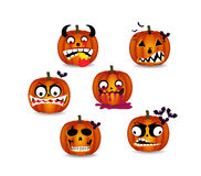 Pumpkins face emotion Royalty Free Stock Photos
