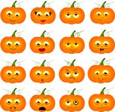 Pumpkins with faces Royalty Free Stock Photography