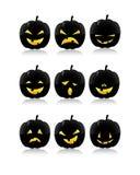 Pumpkins Facial Expressions Stock Images