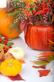 Pumpkins and fall beries Royalty Free Stock Photography