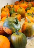 Pumpkins in a farmer's shop Stock Photo