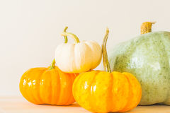 Pumpkins by four Stock Photos