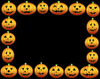 Pumpkins frame Royalty Free Stock Images