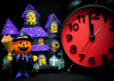 Pumpkins ghost counting down to halloween Royalty Free Stock Photo